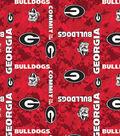 University of Georgia Bulldogs Fleece Fabric 60\u0022-Digital Camo