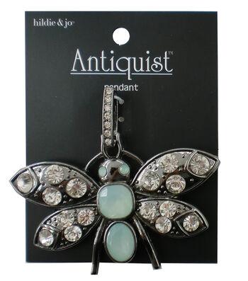 hildie & jo™ Antiquist 3''x2'' Giant Bug Antique Silver Pendant