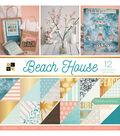 DCWV 36 Pack 12\u0022x12\u0022 Premium Printed Cardstock Stack-Beach House