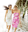 Summerville Pique Fabric-Floral Pink