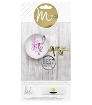 Heidi Swapp Minc Die-Cut Phrases 4/Pkg, , hi-res