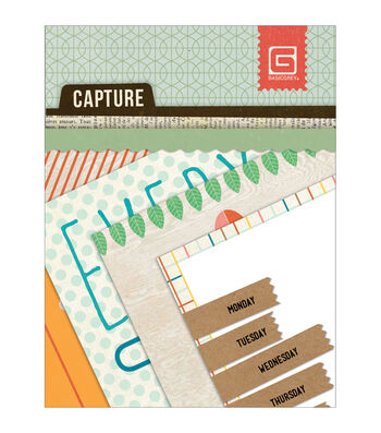 """Capture Mini Snippets Single-Sided Cardstock Cards 3""""X4""""-24 Designs"""