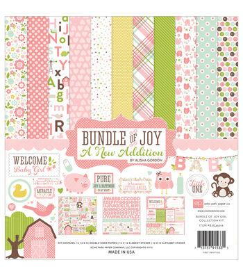 Echo Park Paper Company Bundle Of Joy Baby Girl Scrapbooking Kit