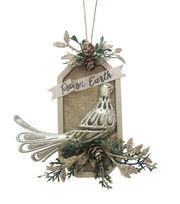 Maker's Holiday Christmas Glistening Pines Dove Ornament-Peace on Earth, , hi-res