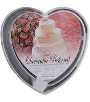 Wilton® Decorator Preferred Cake Pan Set-6'', 10'', 12'', 14''-Heart, , hi-res
