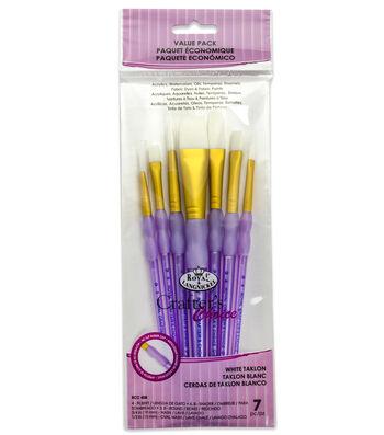 Royal & Langnickel® Variety Brush Set 7pk-White Taklon