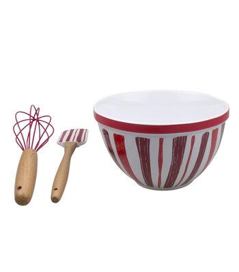 Valentine's Day Mixing Bowl Set-Stripes