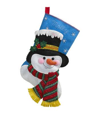 "Bucilla® 18"" Stocking Felt Applique Kit-Jack Frost"