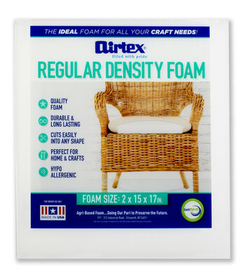 "Airtex Regular Density Chair Pad-15""x17""x2"""