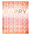 Creative Girl by Julie Comstock Watercolor Canvas Block Happy