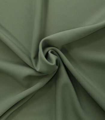 "Silky Solid Stretch Crepe Fabric 58""-Light Green"