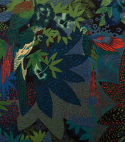 "Alexander Henry Cotton Fabric 44""-Kasuku Jungle Night, , hi-res"