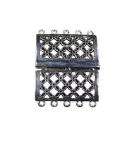 Blue Moon Findings Clasp Metal Slider Rectangle 5 Loop Antique Silver, , hi-res