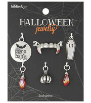 hildie & jo™ Halloween 6 Pack Vampire Mix Silver Charm-Red Crystal, , hi-res