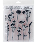 Wildflower-cling Rbbr Stamp Set