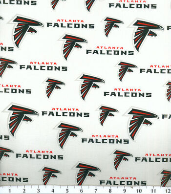 "Atlanta Falcons Cotton Fabric 58""-Logo"