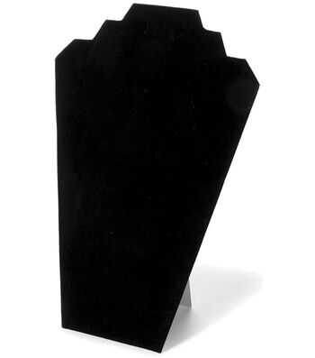 "Darice Velvet Necklace Stand Black 12.63"" x 8.25"""