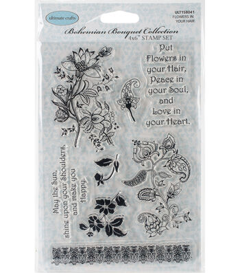Ultimate Crafts Bohemian Bouquet Stamps -Flowers In Your Hair