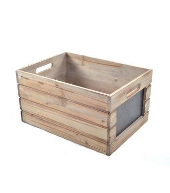 Bloom Room Large Wood Crate With Chalkboard