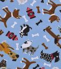 Snuggle Flannel Fabric 42\u0022-Doggies And Firehydrants