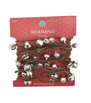 Blooming Holiday Christmas 9' Bell Roping Garland-Silver, , hi-res