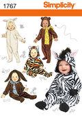 Simplicity Pattern 1767A Infants\u0027 Costumes-Size XS-L