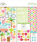 Doodlebug Essentials Page Kit 12\u0022X12\u0022-Fun In The Sun