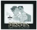 Tabletop Frame 4X6-Mr And Mrs/Black