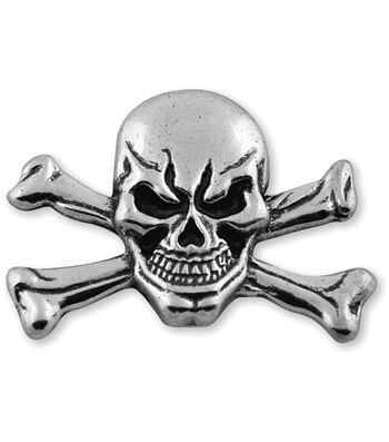 Tandy Leather Factory Concho 1.5'' Rivet Back-Skull & Crossbone