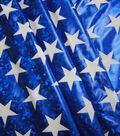 Cosplay by Yaya Han Stretch Fabric 58\u0022-Superhero Metallic Stars Blue