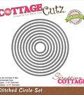 CottageCutz Basics Dies-Stitched Circle, .7\u0022 To 3.7\u0022