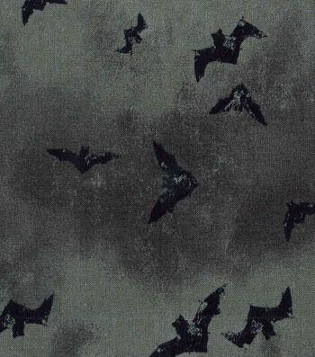 "Halloween Cotton Fabric 43""-Spooky Bats"