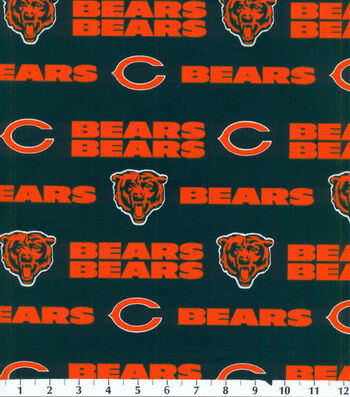 "Chicago Bears Cotton Fabric 58""-Mascot Logo"