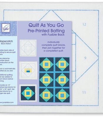 Quilt As You Go Printed Quilt Blocks On Batting-Hopscotch