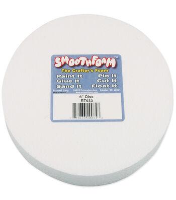 "Smooth Foam Disc 6""x1"" 1/Pkg-White"