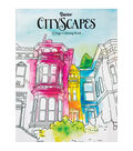 Adult Coloring Book-Darice City Scapes
