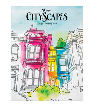 Adult Coloring Book Darice City Scapes