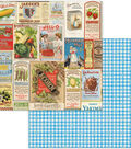 Family Recipes Double-Sided Cardstock 12\u0022X12\u0022-Delicious