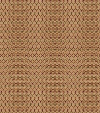 "Eaton Square Print Fabric 54""-Infrared/Wine"