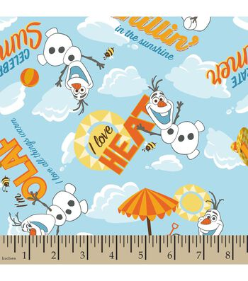 Disney Frozen Olaf Sunshine Cotton Fabric