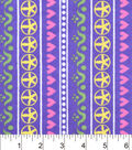 Snuggle Flannel Fabric 42\u0022-Flower Heart Stripe