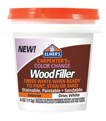Elmer's Color Change Wood Filler 4oz-White