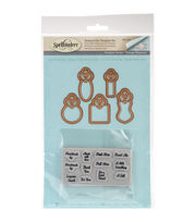Spellbinders® Becca Feeken Stamp & Die Set-Graceful Tiny Tags, , hi-res