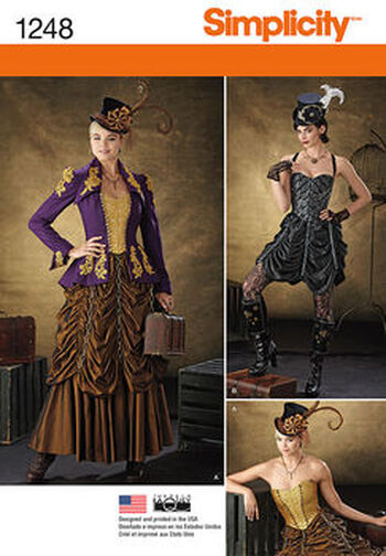 Simplicity Pattern 1248-Misses' Steampunk Costumes