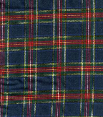 """Cotton Shirting Fabric 41""""-Plaid"""