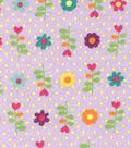 Fashion Flannel Floral Dot Glitter Fabric