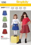 Simplicity Pattern 1290K5 7-8-10-12--Child / Girl Skirt /