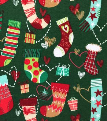 "Doodles Christmas Interlock Cotton Fabric 57""-Stockings"