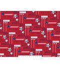 Patriotic Cotton Fabric 44\u0022-Stars With Words