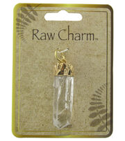 Naturals Raw Charm Clear Gold Clear Pendant, , hi-res